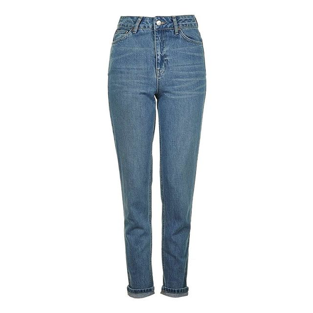 Topshop Cheeky Rip Mom Jeans