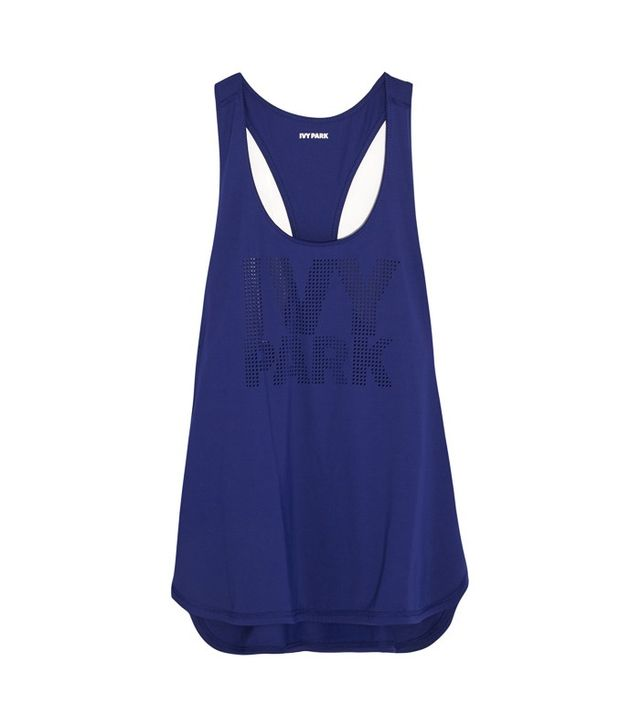 Ivy Park Perforated Stretch-Jersey Tank