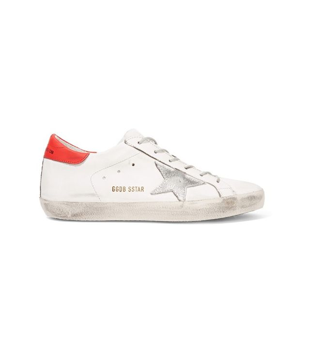 Golden Goose Deluxe Brand Super Star Distressed Leather Sneakers