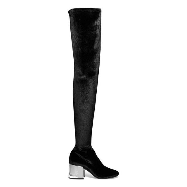 MM6 Maison Margiela Stretch Velvet Over-the-Knee Boots