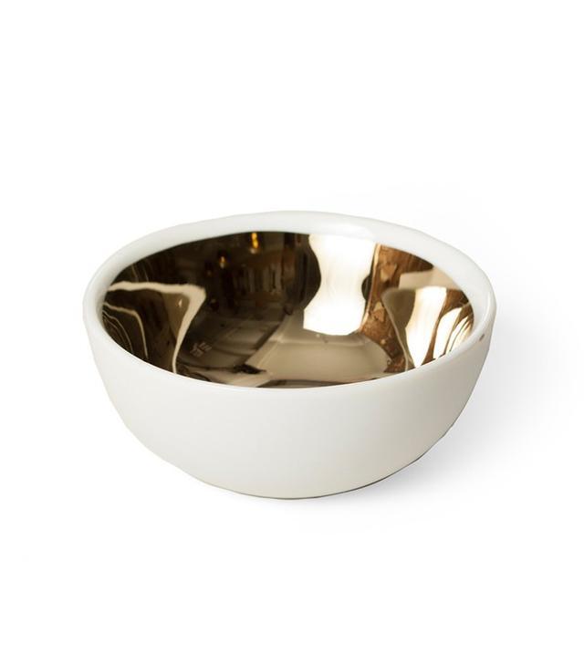 Catbird Gold Glazed Bowl