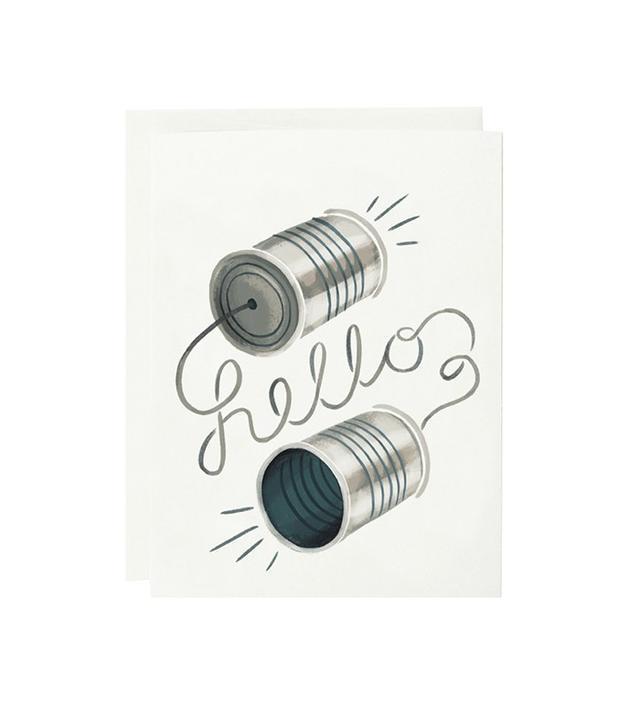 Quill & Fox Tin Can Hello Card