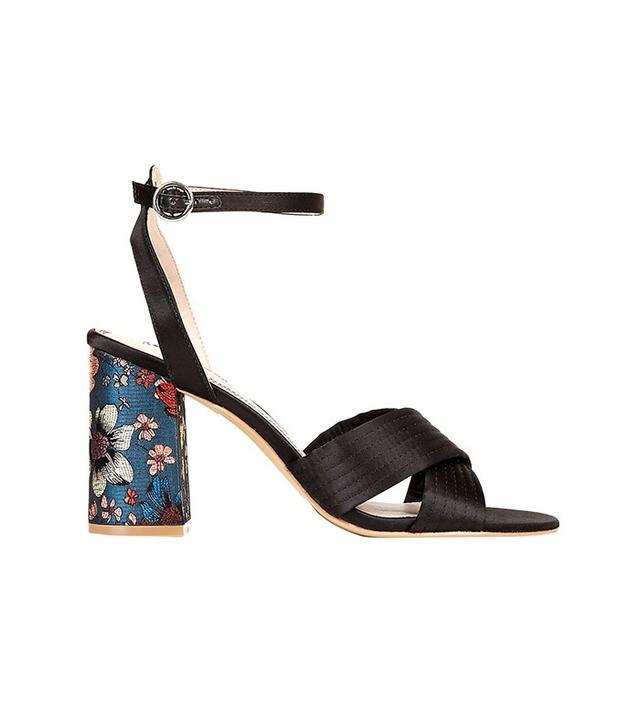 Topshop Rich Satin Cross Strap Sandals