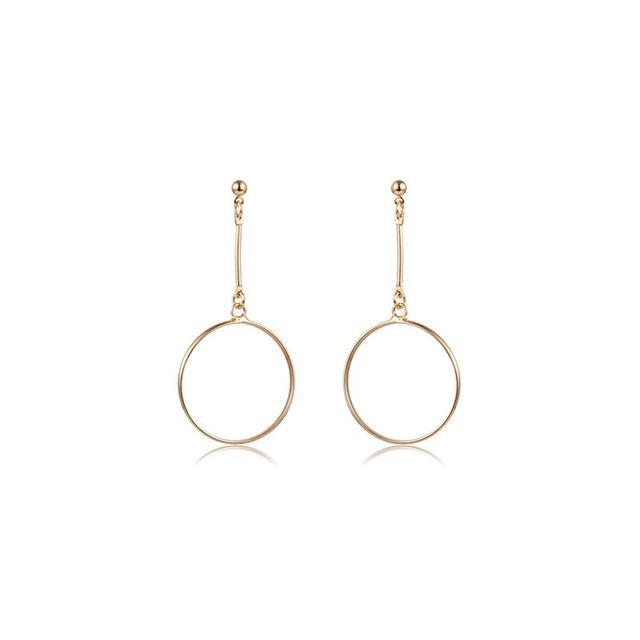 The Dark Horse White Label Gold Drop Hoop Earrings