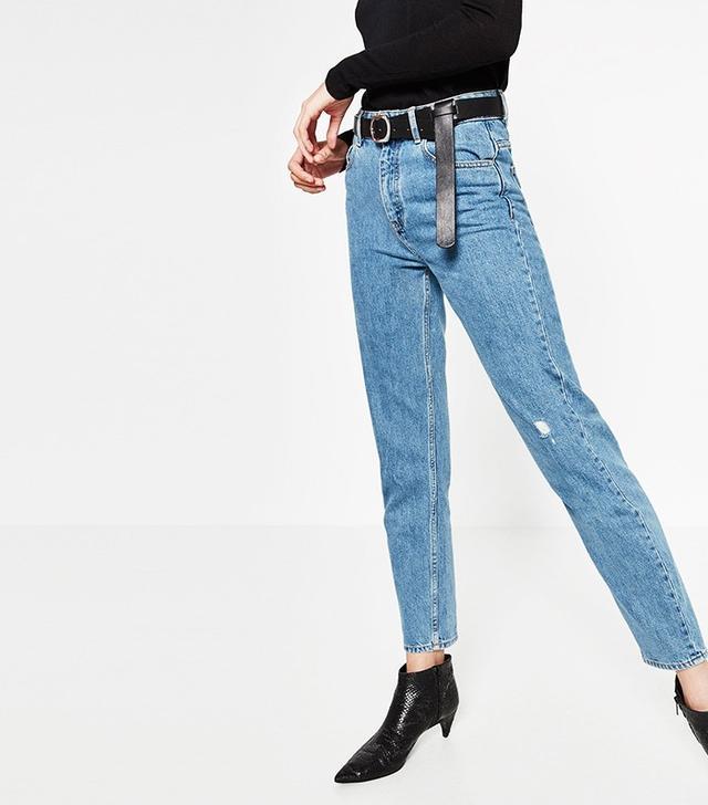 Zara High Waisted Mum Jeans