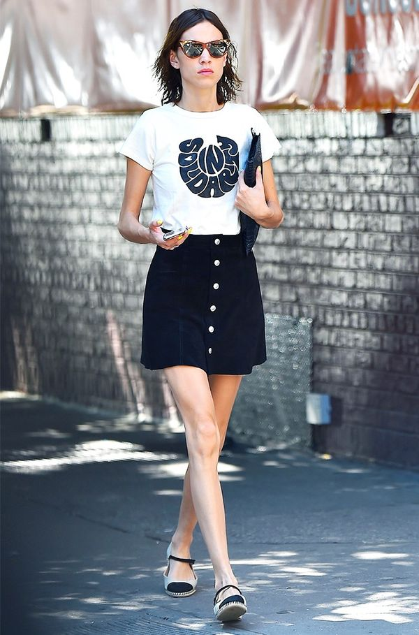 Miniskirt Tip #5: Wear With a Retro Tee