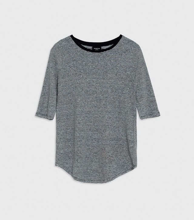 Who What Wear Elbow Sleeve Linen Tee