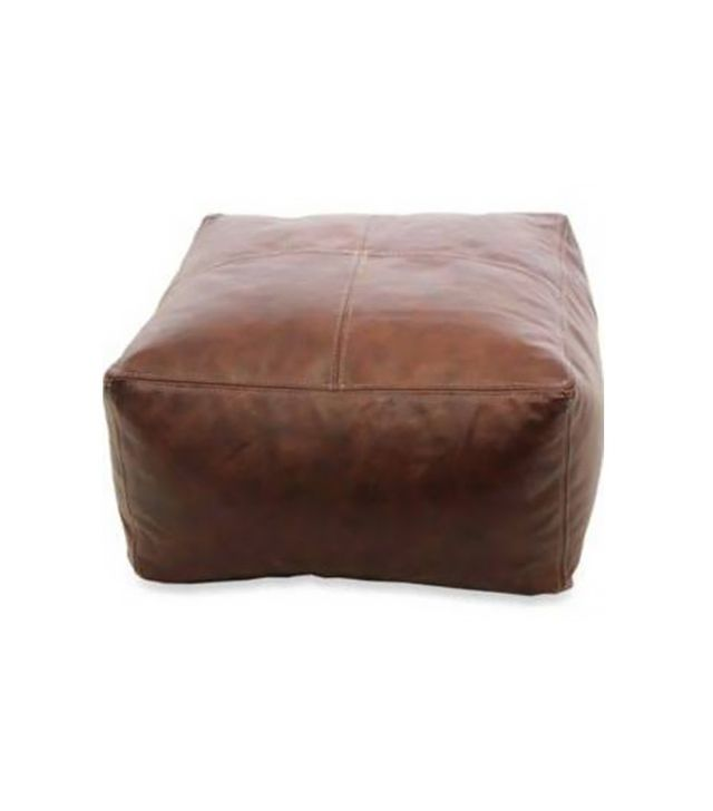 Bed Bath & Beyond Leather Pouf