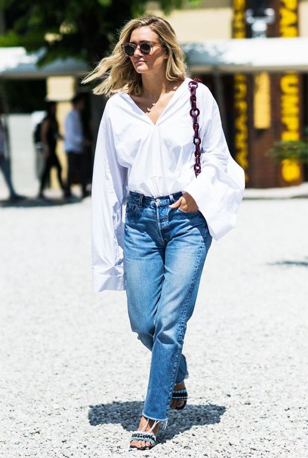 Exaggerated sleeves are one of those trends that just happen to make summer office dressing so much easier.