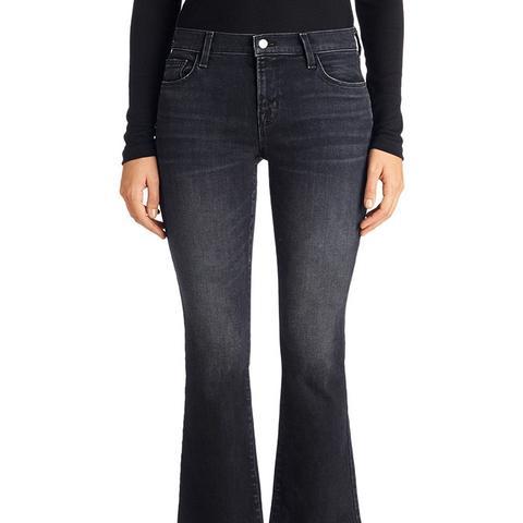 Selena Mid Crop Boot Cut Jeans