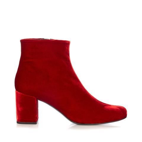 Babies Block-Heel Velvet Ankle Boots