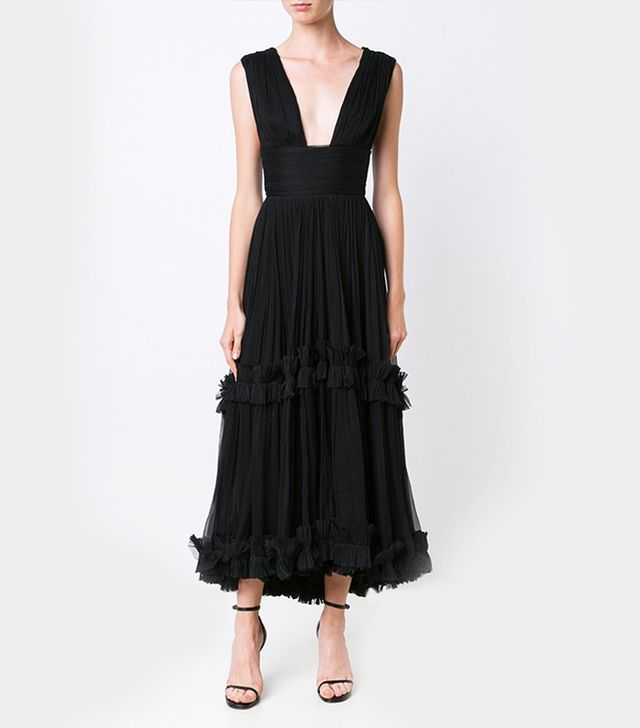 Maria Lucia Hohan Plunging Neck Dress