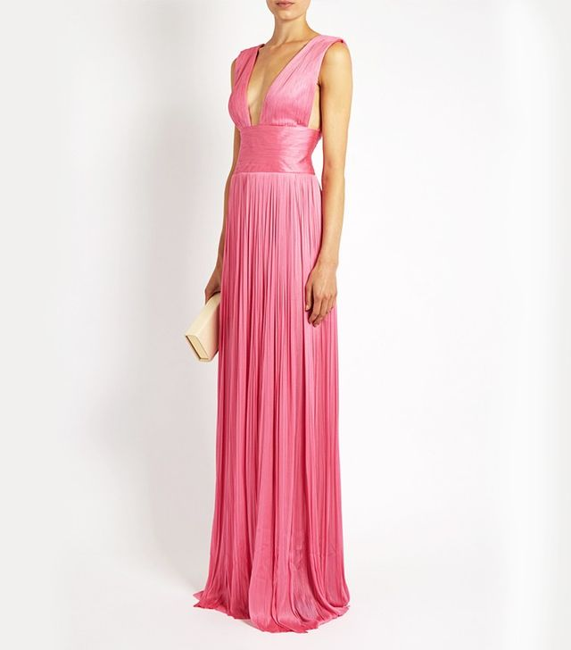 Maria Lucia Hohan Silk-Tulle Pleated Gown