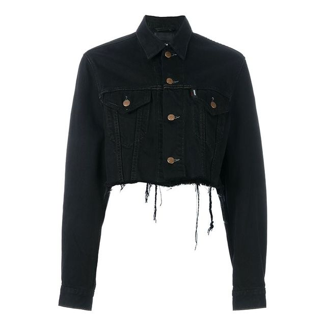 Blackyoto Cropped Denim Jacket