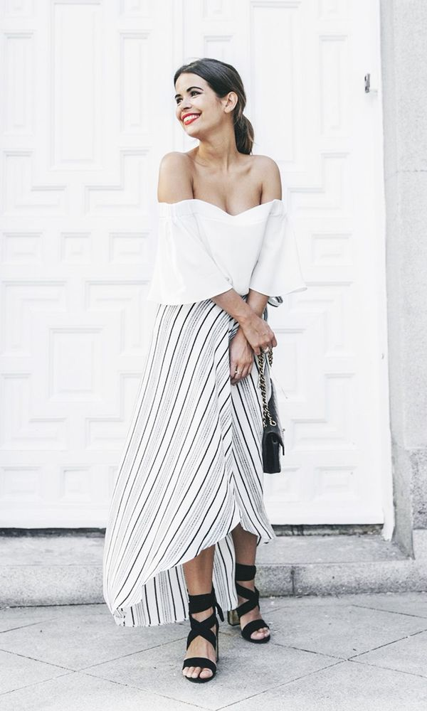 Pair it with a wrap skirt: