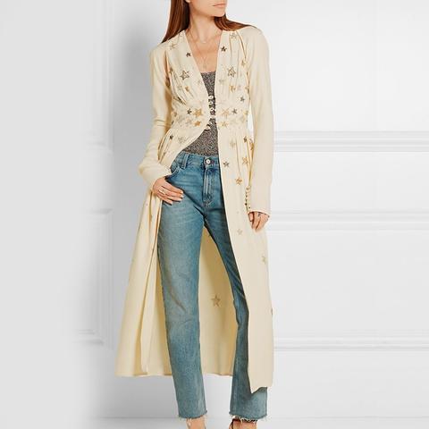 Cher Embellished Crepe Jacket