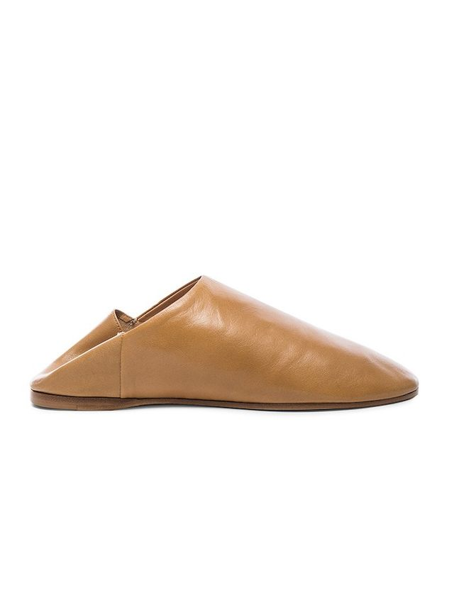 Acne Studios Leather Agata Babouche Slippers