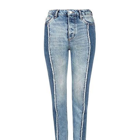 Panel Straight Leg Jeans