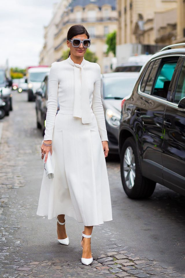 WHO: Giovanna Engelbert A tricky outfit like head-to-toe white doesn't have to be too hard for your every day. It just needs planning.