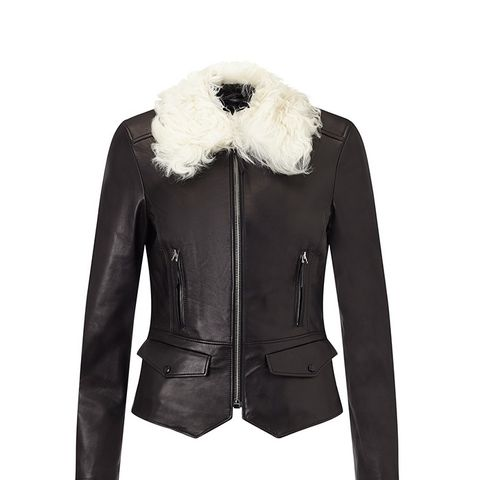 Liv Tyler Roxie Shearling Collar Jacket