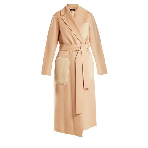 Beth Patch-Pocket Wool and Cashmere-Blend Coat