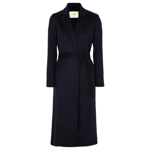 Brushed Wool-Blend Felt Coat