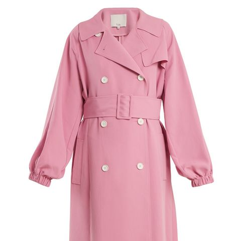 Belted Double-Breasted Trench Coat