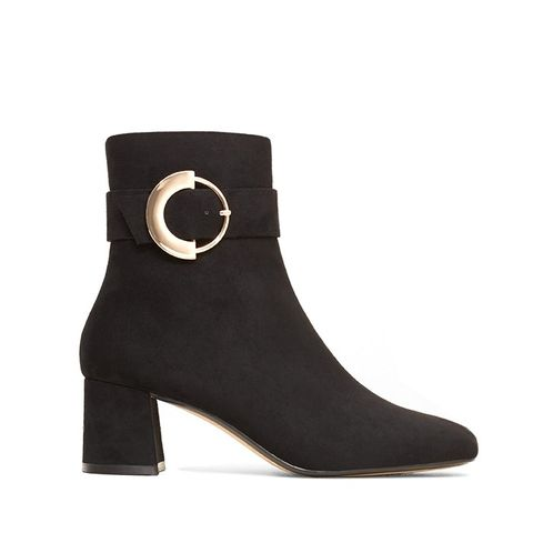 Decorative Buckle Boots
