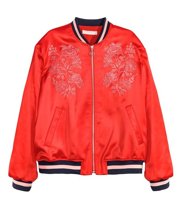 H&M Embroidered Pilot Jacket