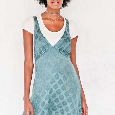 Sophia Jacquard Mini Slip Dress