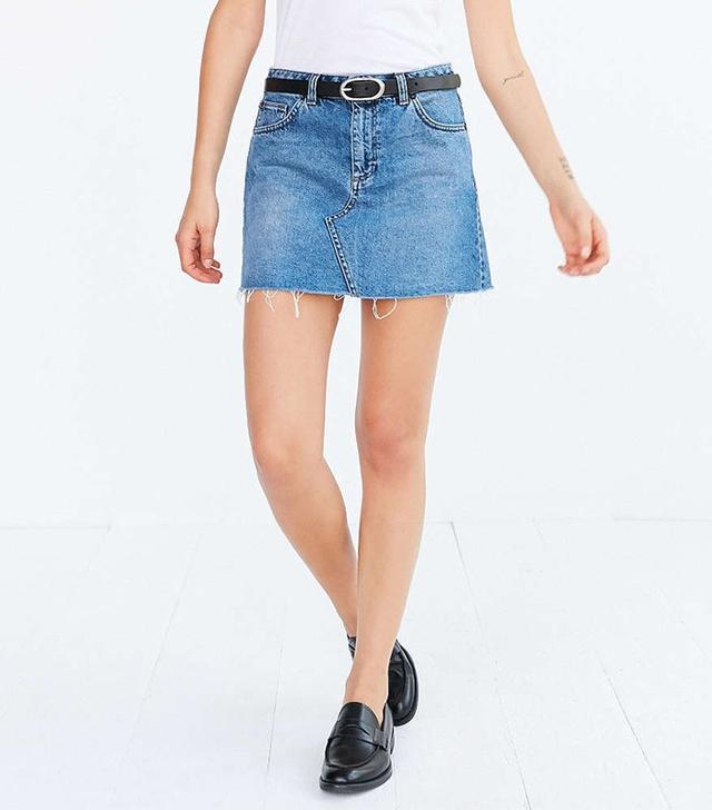 BDG Denim Pelmet Mini Skirt