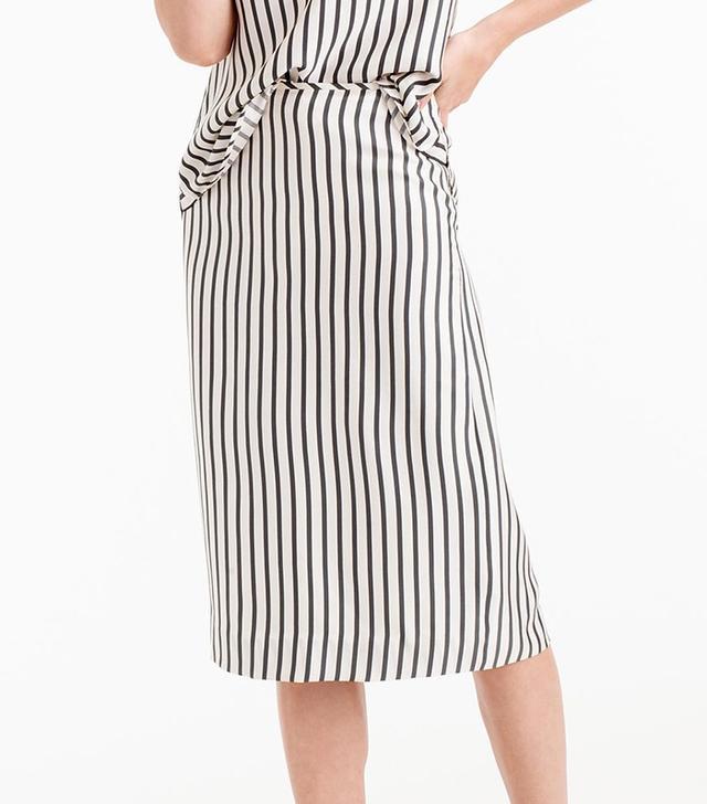 J.Crew Collection Silk Striped Skirt