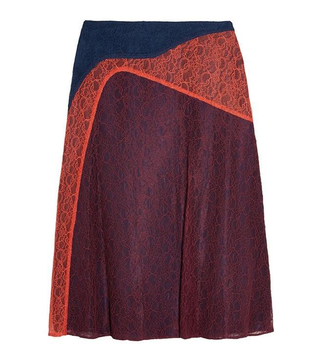 Tory Burch Kassia Paneled Lace Skirt