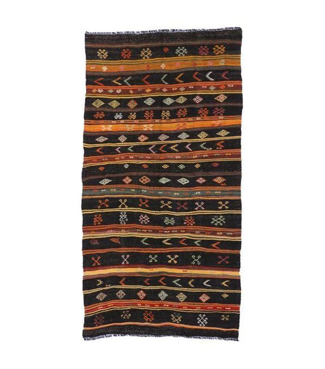 Chairish Turkish Tribal Design Kilim