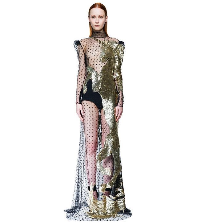 Alexander McQueen Sequin-Embellished Tulle Gown