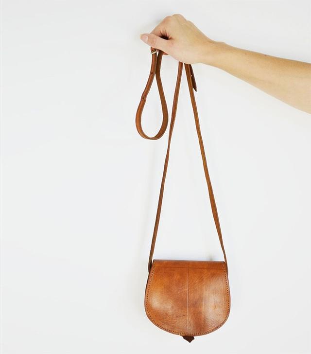 Floral Threads 90s Leather Shoulder Bag