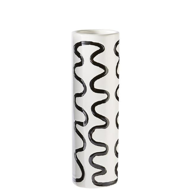 scribble black and white vase