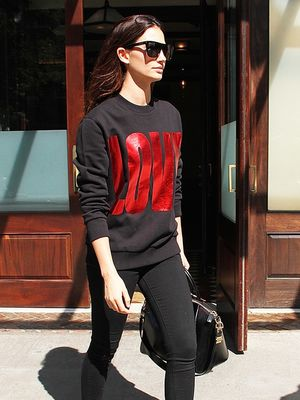 The Cool-Girl Way to Style a Graphic Sweatshirt