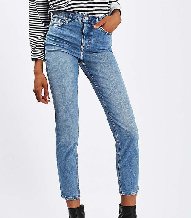 Topshop Moto Blue Orson Slim Jeans