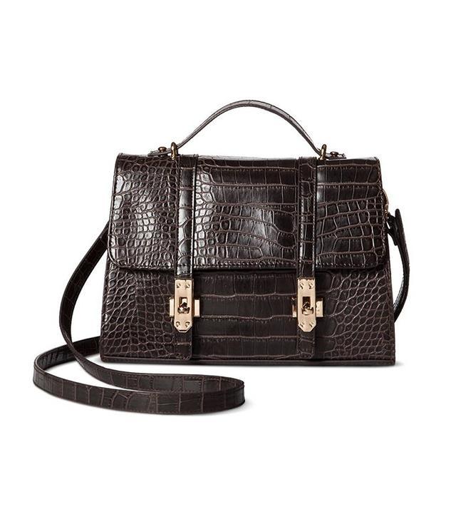 Who What Wear Mini Croc Top Handle Bag