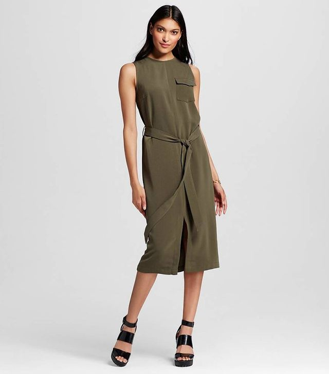 Who What Wear Utility Midi Dress
