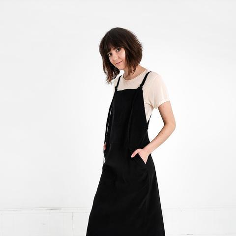Fine Corduroy Overall Dress