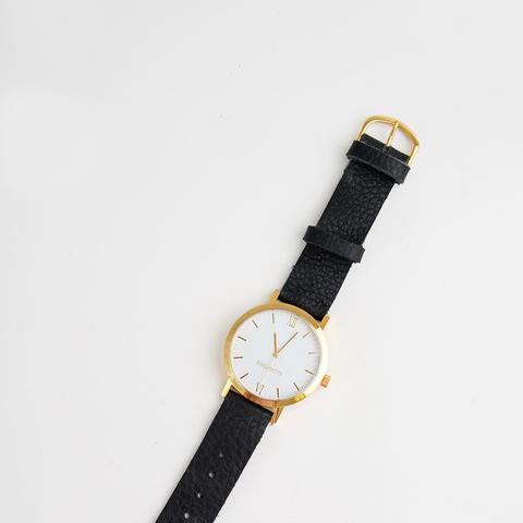 Gold Round Watch
