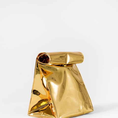 Gold Foldover Bag