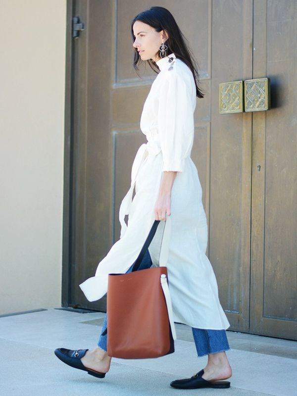 #4: Summer Dress + Cut-Off Jeans + Slides