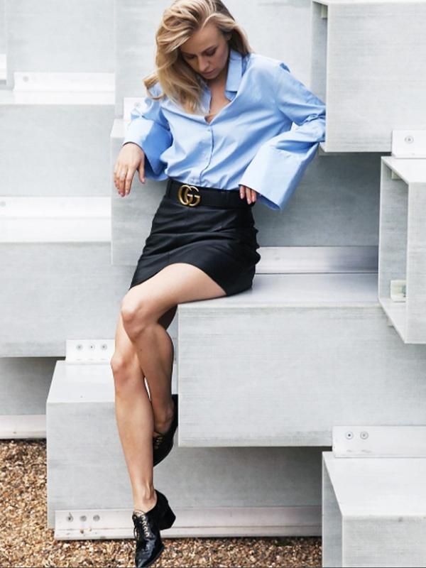 #7: Business Shirt + Miniskirt + Brogues