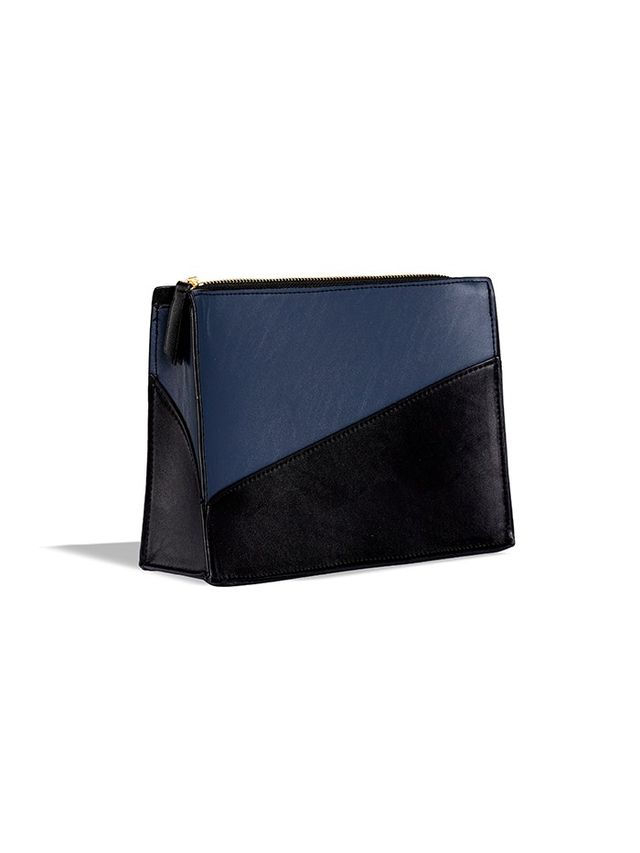 Who What Wear Colorblock Zip Clutch