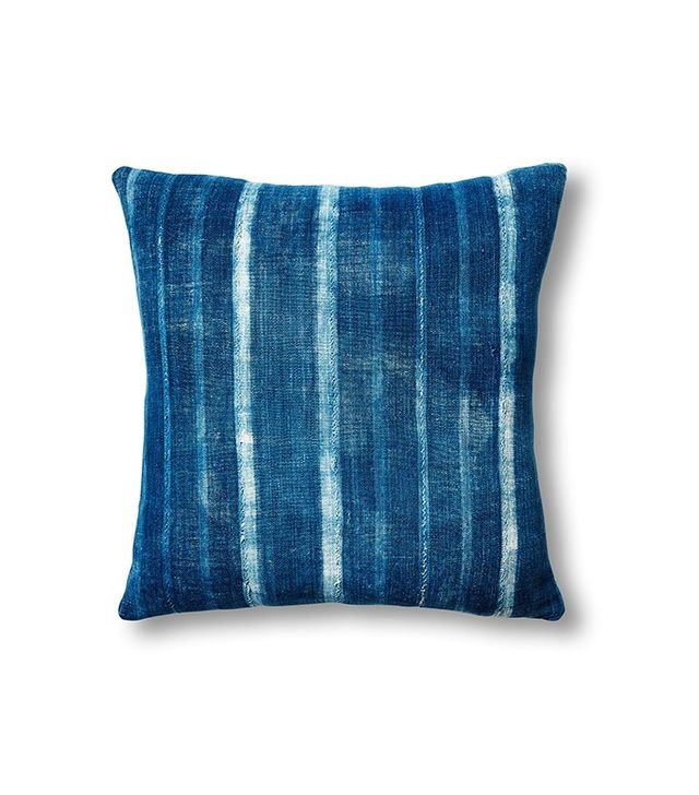 One Kings Lane Natural Mud Cloth & Indigo Stripe Pillow