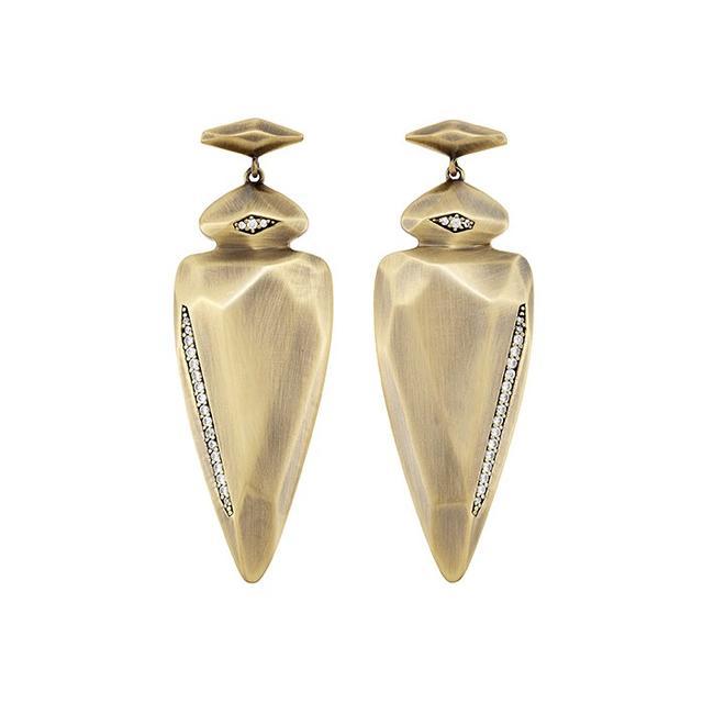 Kendra Scott Stephanie Earrings in Antique Brass