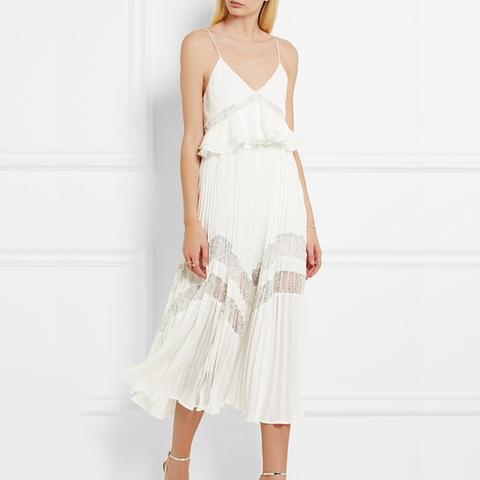 Amelia Pleated Lace Dress